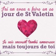 Carte St valentin pour elle